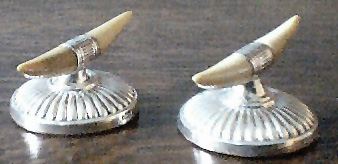Silver Round & Ivory - Knife Rests