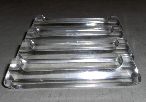 Four Plain Glass - Knife Rests